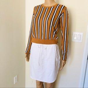 English Factory Striped Sweater Dress